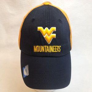 West Virginia Mountaineers Adjustable Mesh Cap NWT